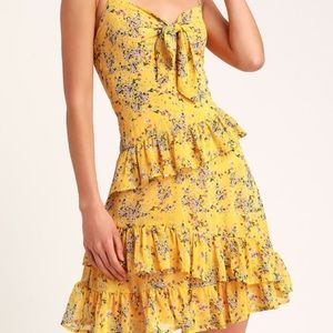 Lulu's yellow mini dress